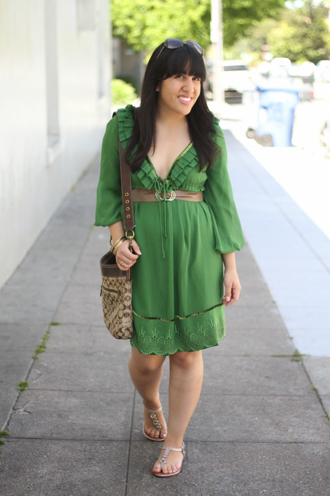Green DVF Dress
