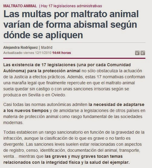 multas maltrato animal