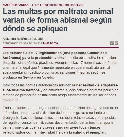 multas maltrato animal