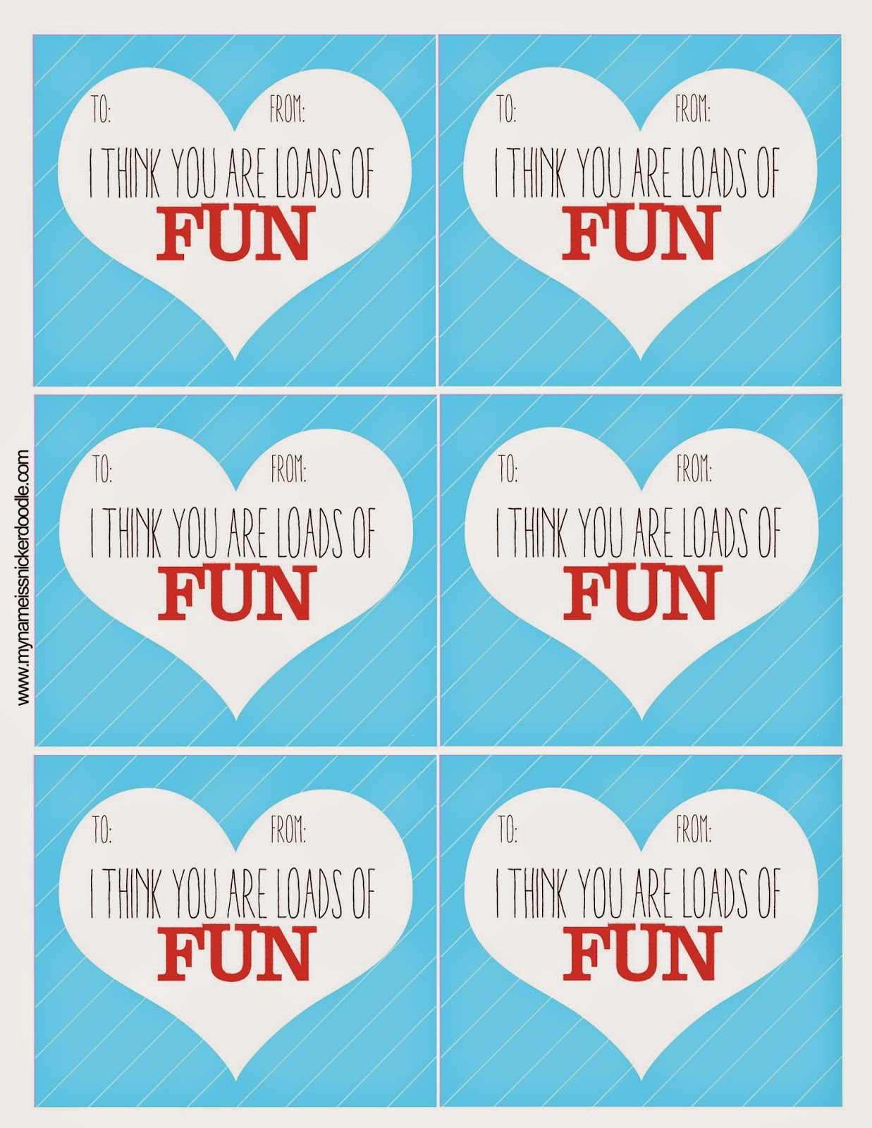 These super FUN Valentine printables are free, quick and easy!  |  My Name Is Snickerdoodle