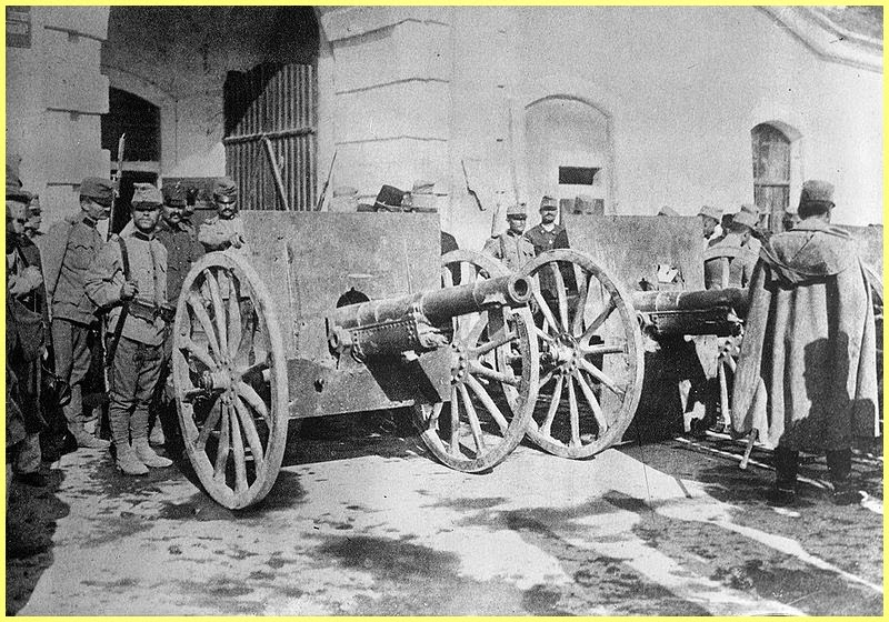 Soldados Austrohungaros en Serbia