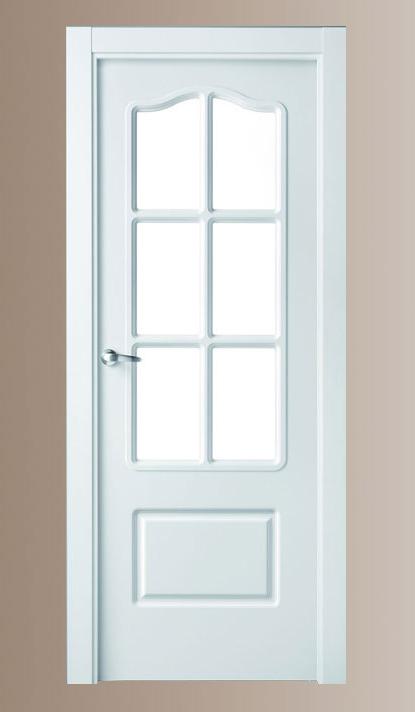 Puerta lacada mod 400 serie lacadas proma artideco - Puertas de madera en blanco ...