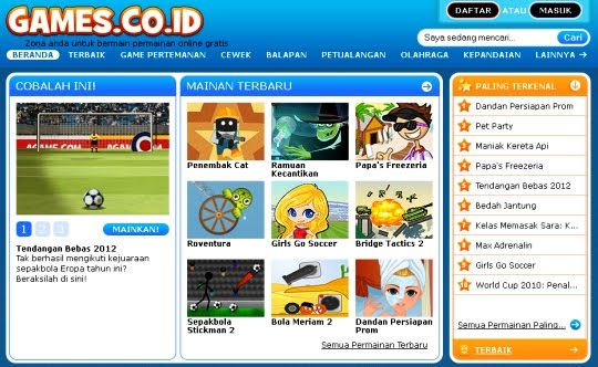 Situs Permainan Online Gratis www.games.co.id