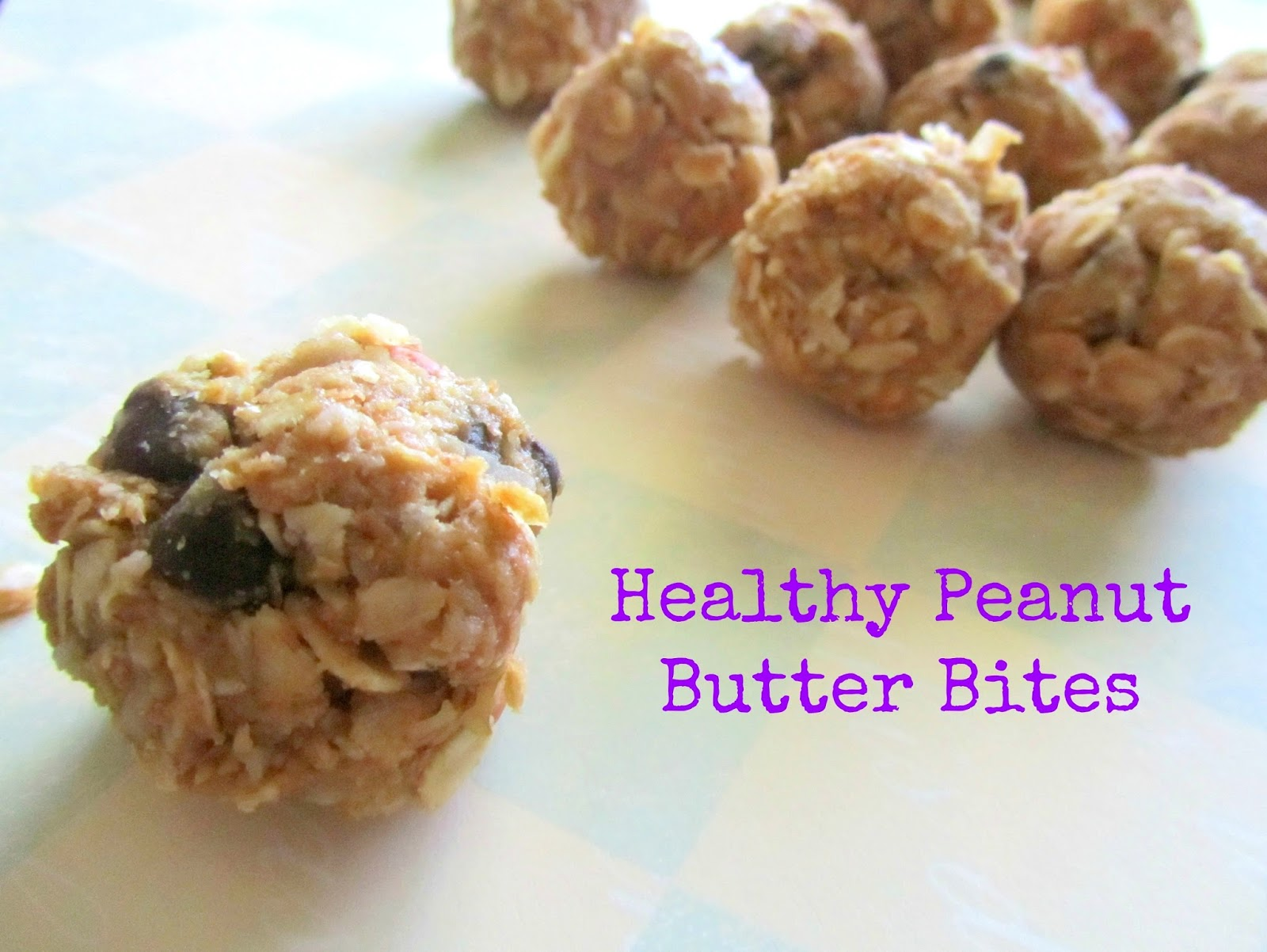 Pinning with Purpose: Healthy Peanut Butter Bites