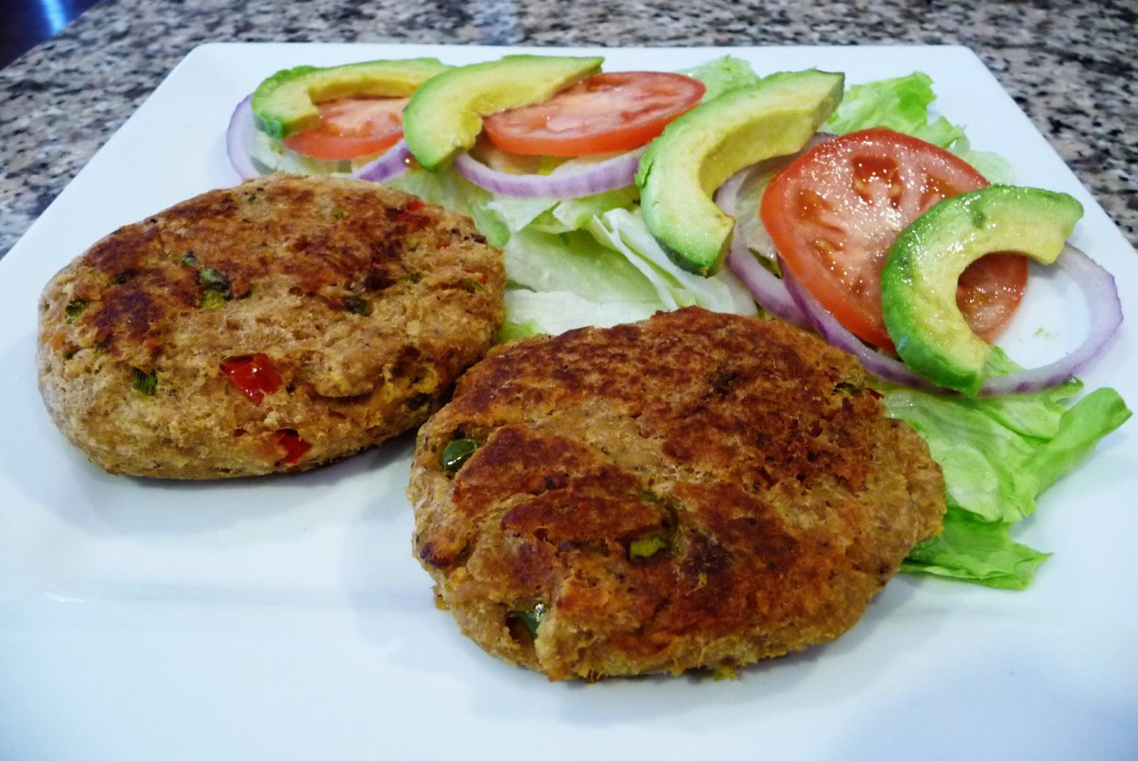 Tuna patties tuna burgers easy cooking with sandy - Ensalada de arroz con atun ...