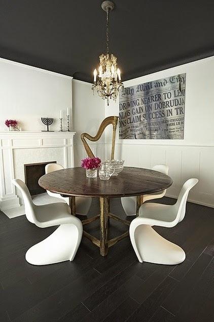 Conseils d co et relooking d co design id es de for Plafond peint en noir