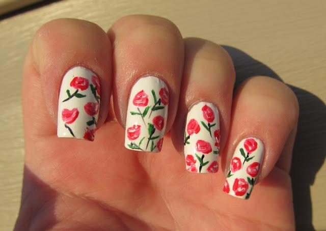 Roses for nail art