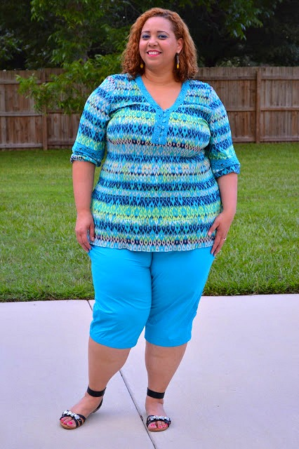 Plus Size Capri Pants on the Estrella Fashion Report