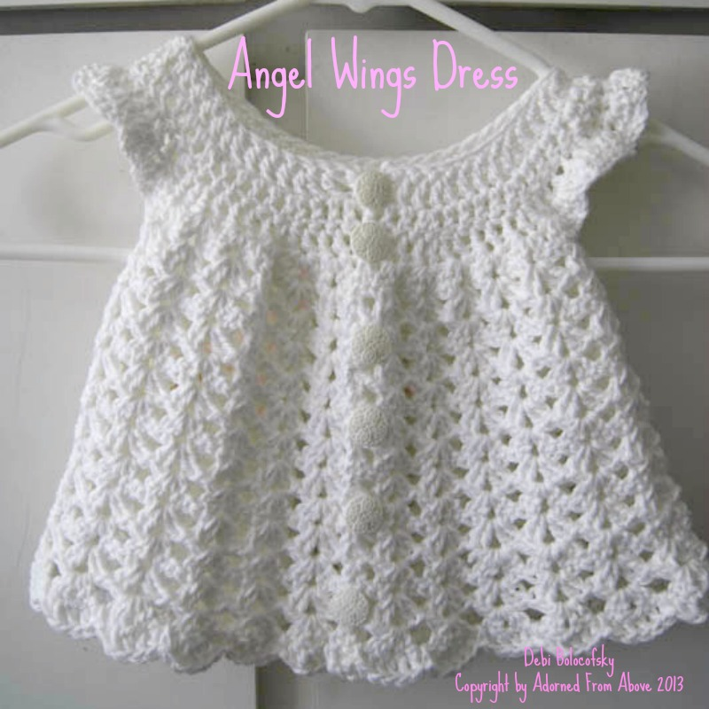 Adorned From Above Angel Wing Crocheted Dress Pattern Newborn