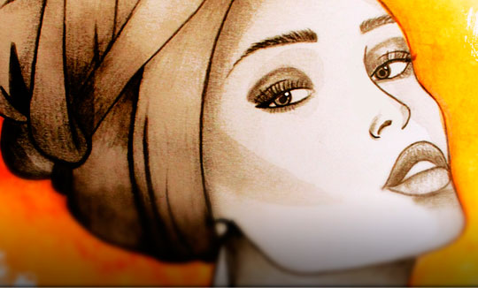 Ilustración, Mujer afrocolombiana de Daniela Barreto