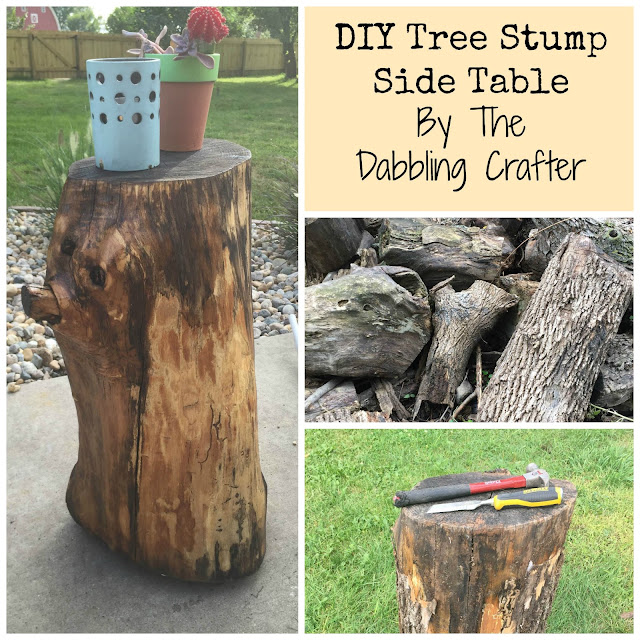Tree Stump Coffee Table Diy: The Dabbling Crafter: DIY Sunday: Tree Stump Side Table