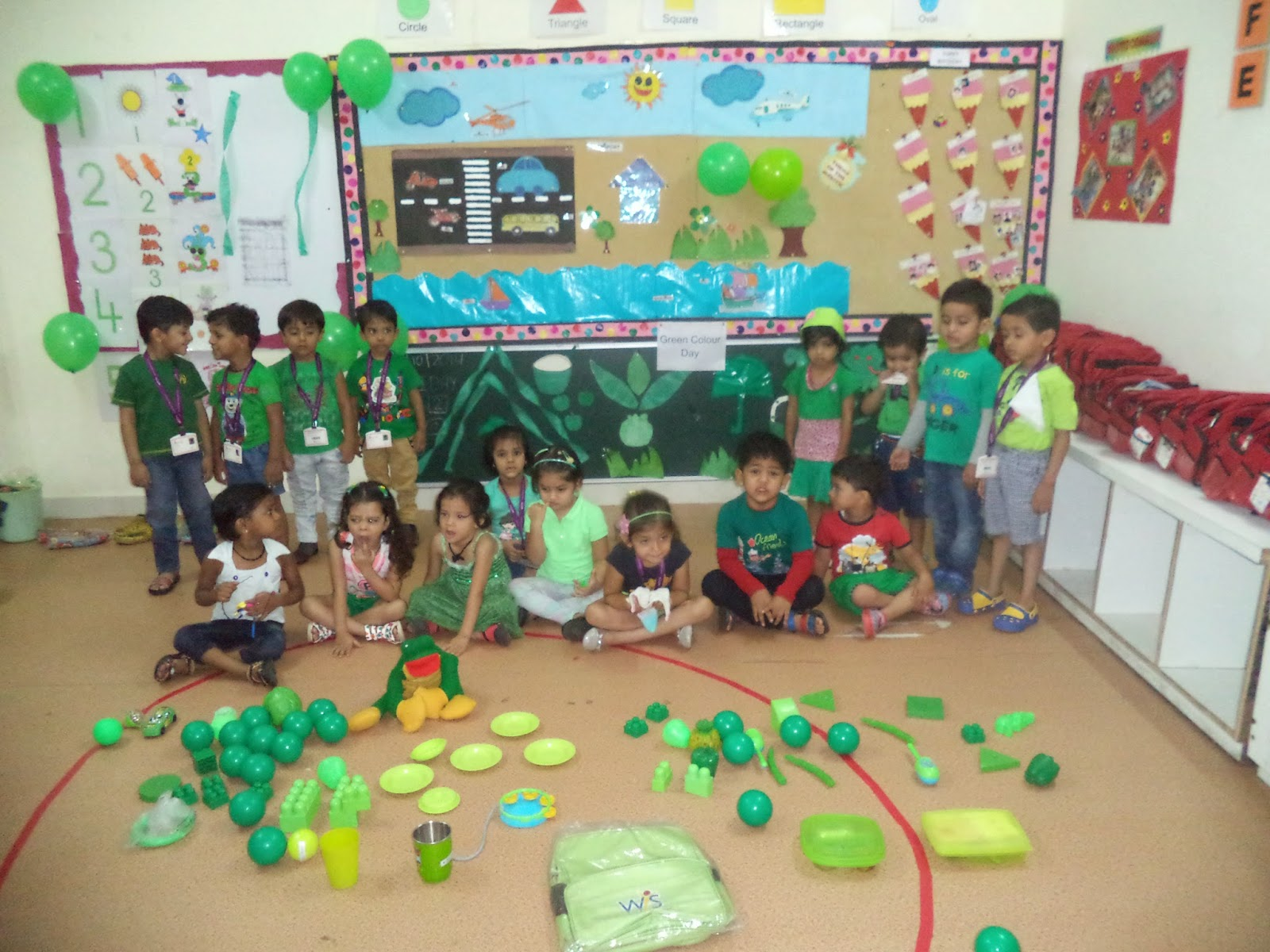 On The Top Of The World Celebrated Green Colour Day Nursery