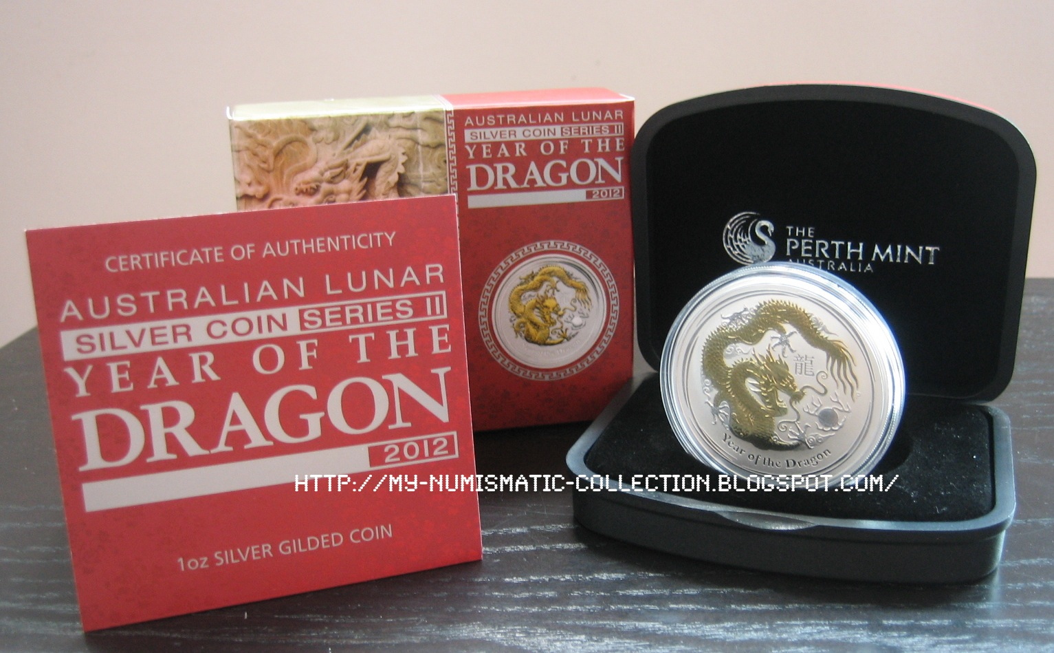 Numismatic Collection 2012 Year Of Dragon 1 Oz Gilded