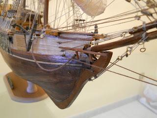 maqueta del bergantin corsario de la marca occre