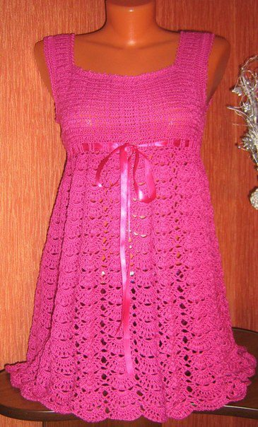 Crochet Patterns to Try: Free Chart for Summer Dress to ...