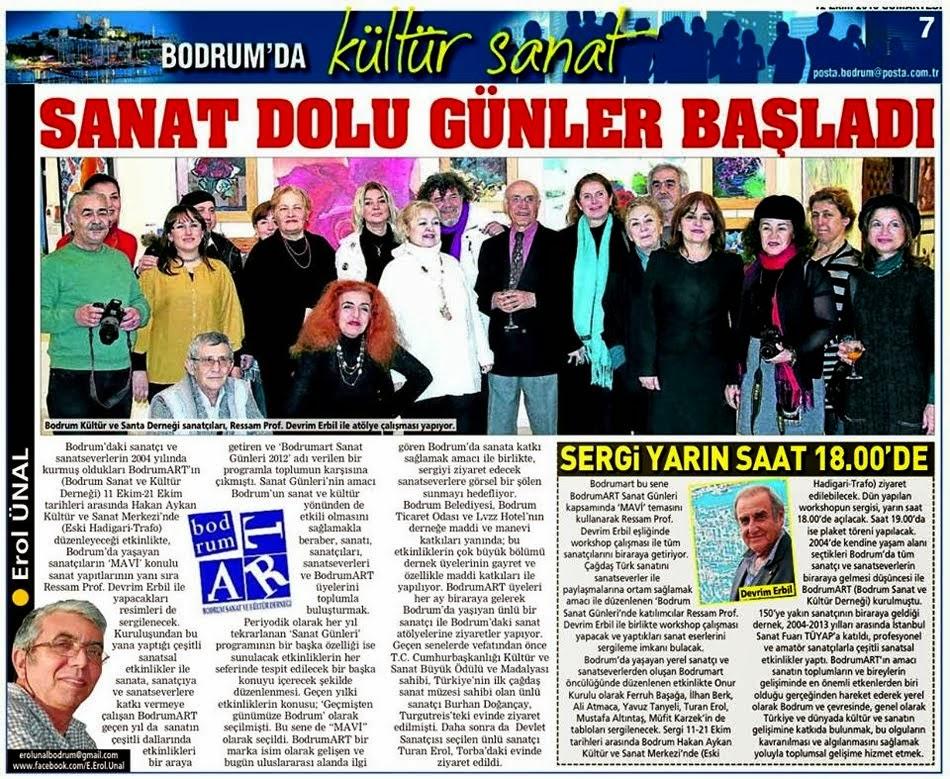 13 SANAT DOLU GÜNLER