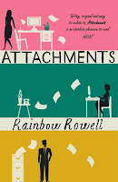 UK paperback book cover of Attachments by Rainbow Rowell