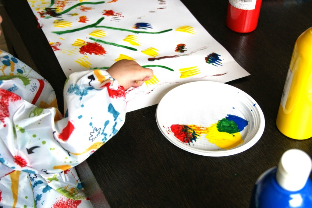 tulip painting, kids craft
