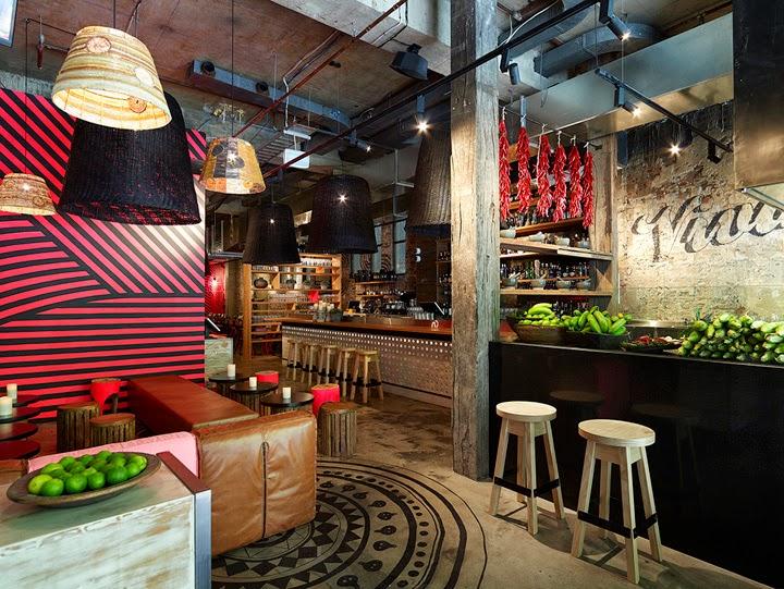 Recomendaciones restaurante mejicano con deco industrial for Decoracion industrial