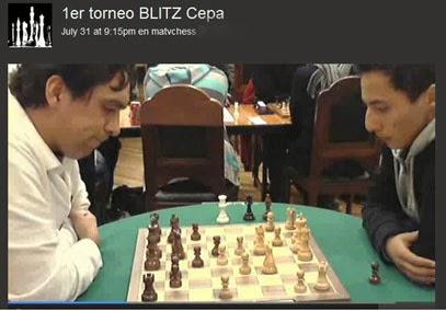 "Transmitimos en Vivo!  1er BLITZ del Club ""CEPA"", 31 julio 2013"