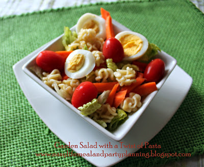 Garden Salad with a Pasta Twist by Easy Life Meal & Party Planning