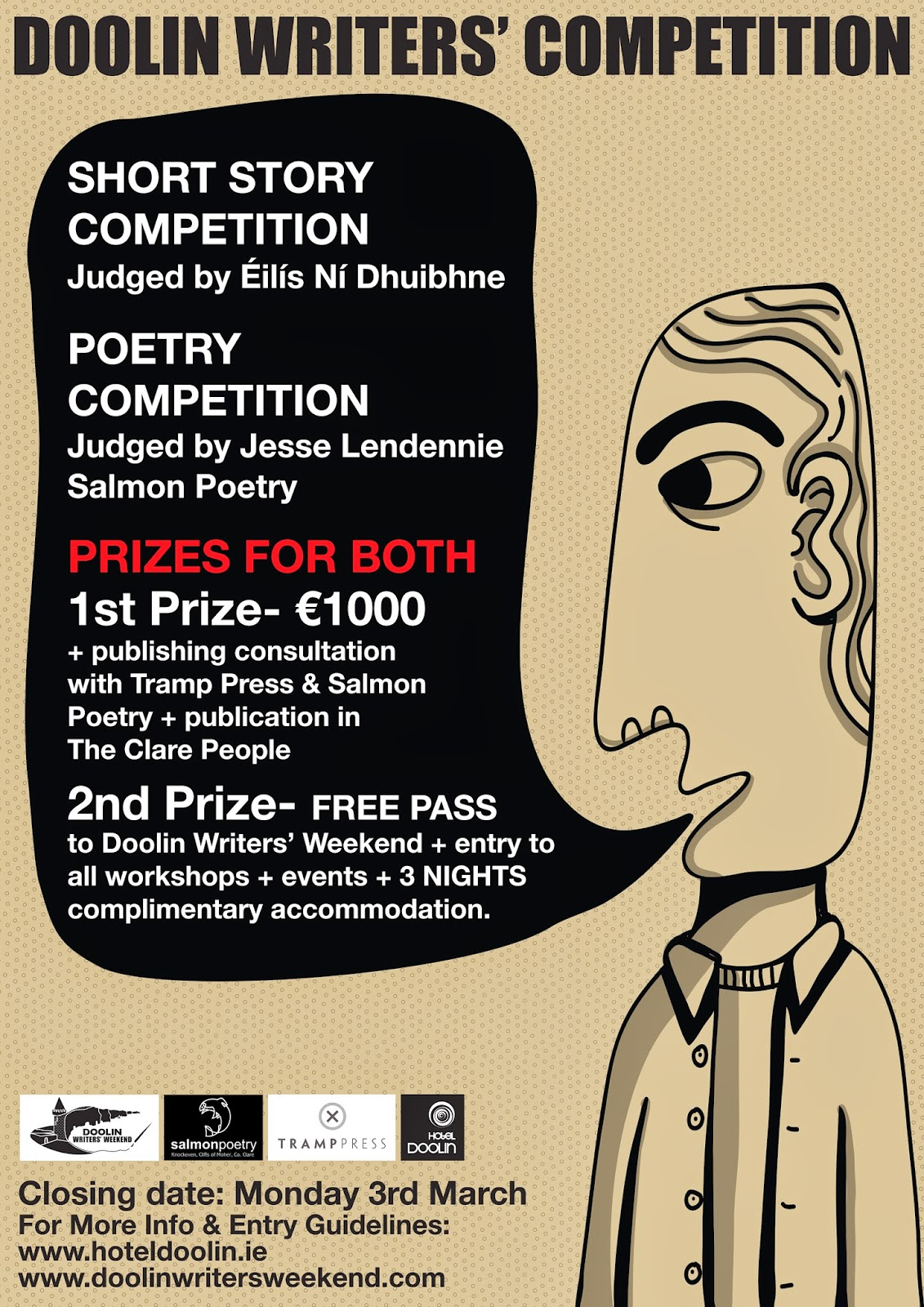 Doolin Poetry and Short Story Competition announced