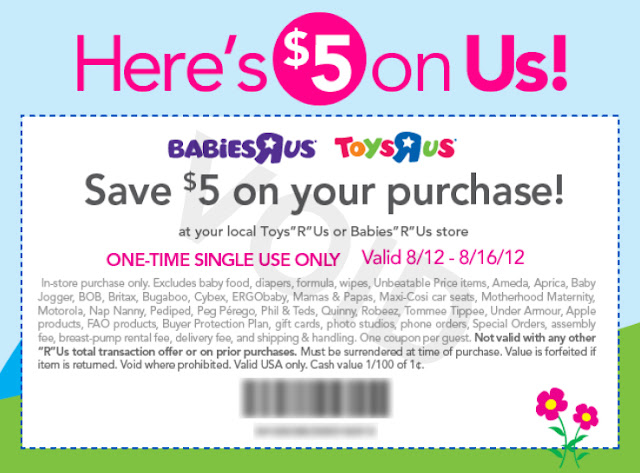 photo regarding Baby R Us Coupons Printable known as Toys R Us/Infants R Us Printable Coupon: $5 Off Within just-Retail outlet