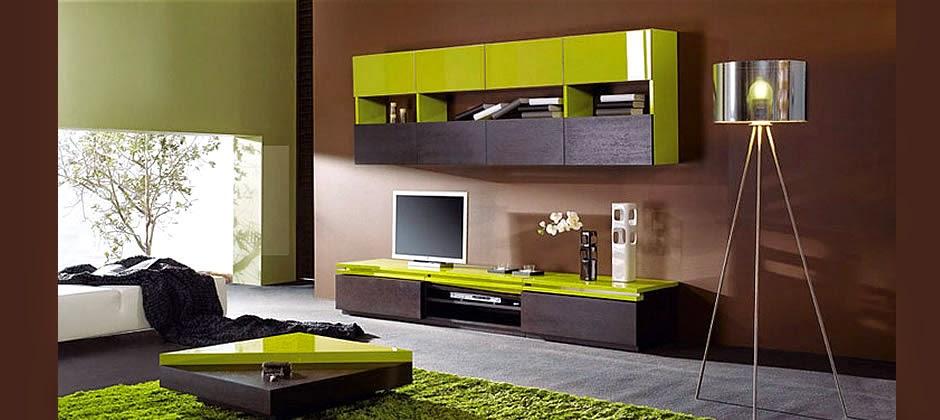 Sala De Estar Com Verde ~ Decoración de salas en verde y marrón