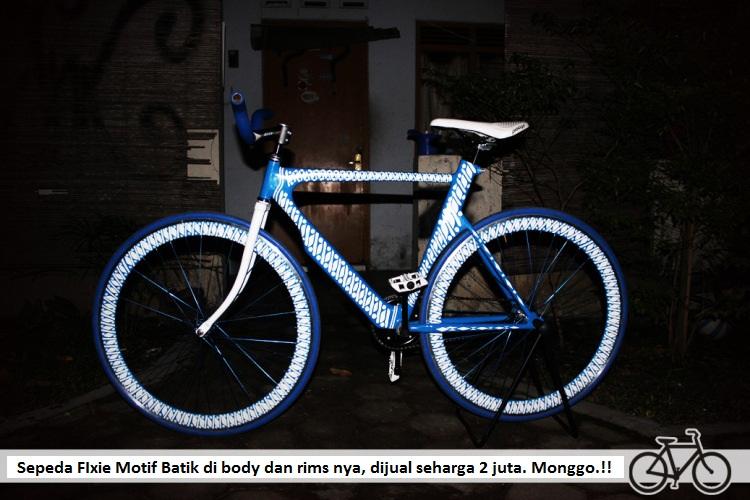 Sepeda Fixie Motif Batik Keren Jogja  Grosir Alkes Jogja  Grosir