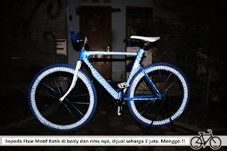 Sepeda Fixie Motif Batik Keren Jogja