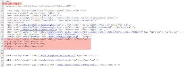 Kode Website Resmi Singkawang Kota