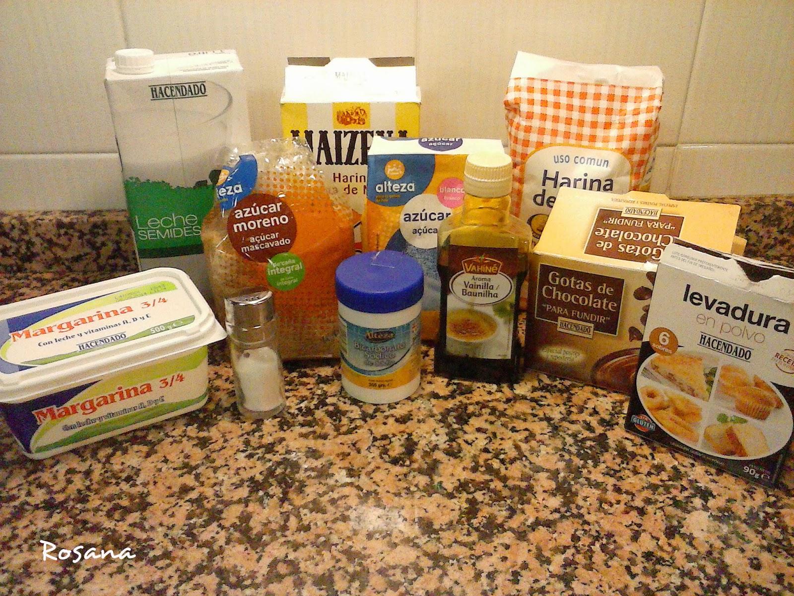 Ingredientes para hacer galletas caseras