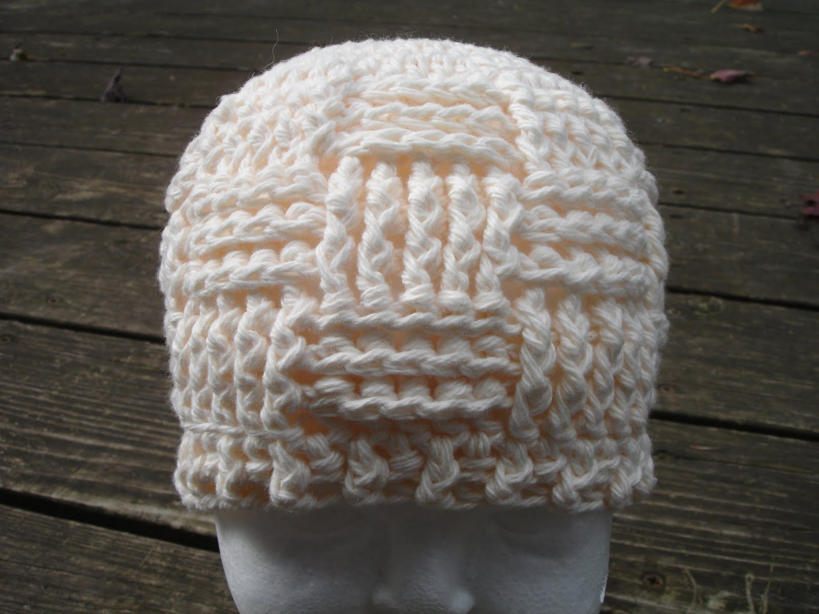 How To Make A Basket Weave Hat : Created by jennifer basket weave beanie