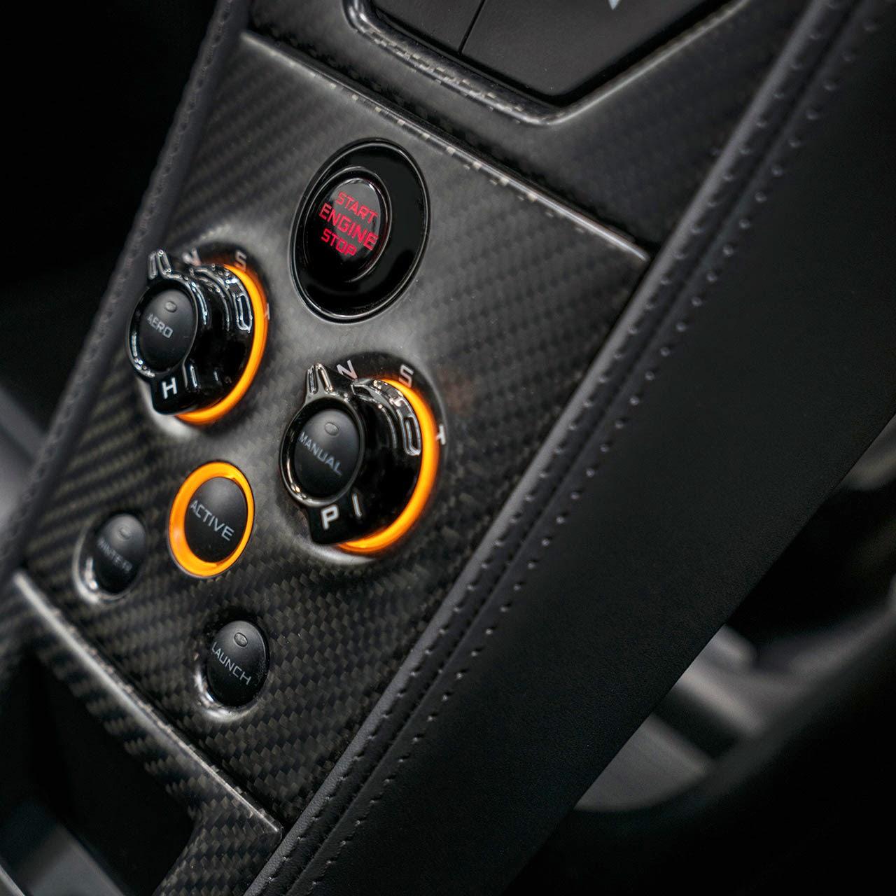 McLaren MSO 650S Coupe Concept dash detail