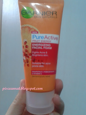 fruit energy facial foam