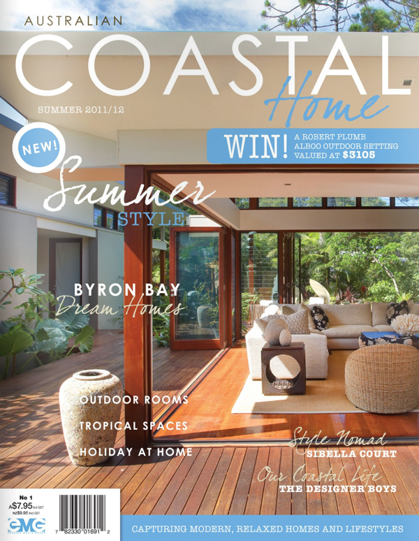 Australian coastal home magazine bandhini homewear design for Home builders magazine