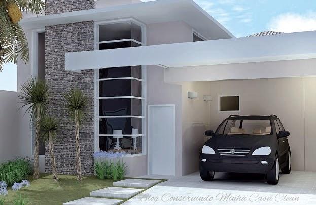 Construindo minha casa clean fachadas de casas simples for Casas modernas simples