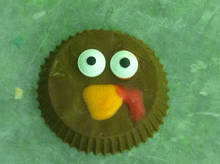 Reeses Peanut Butter Cup Turkey Head