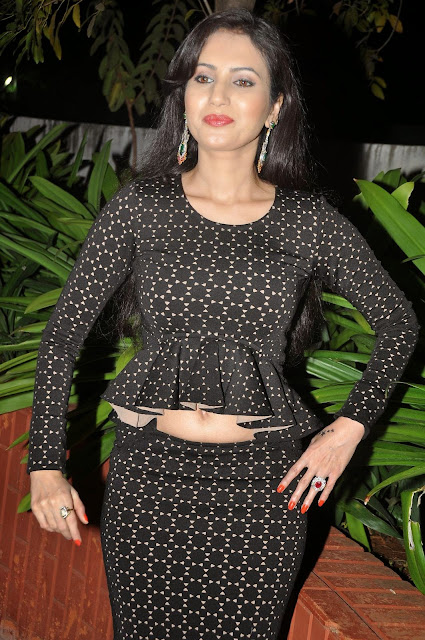 Anu Smruthi Latest Pictures in Short Dress at Heroine Movie Audio Launch 5.JPG