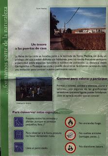 triptico Balsa de Larralde Torre Medina Zaragoza