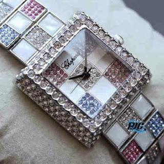 Jam Tangan Chopard Catur Segi Silver