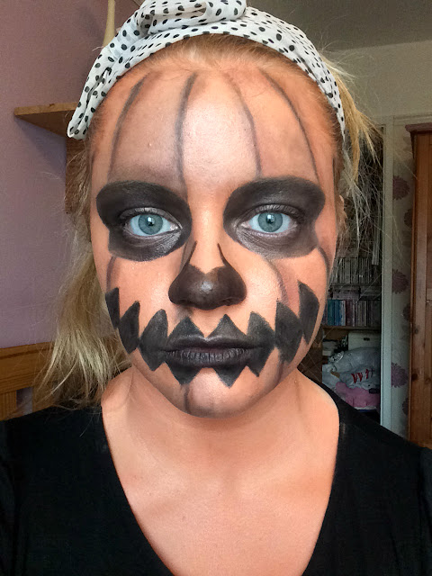 halloween pumpkin makeup