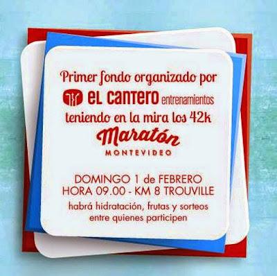 Fondo gratuito El Cantero entrenamientos preparando Maratón de Montevideo (Rbla, k8, 01/feb/2015)