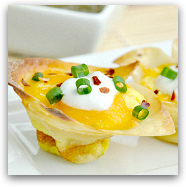 wonton quiche cups