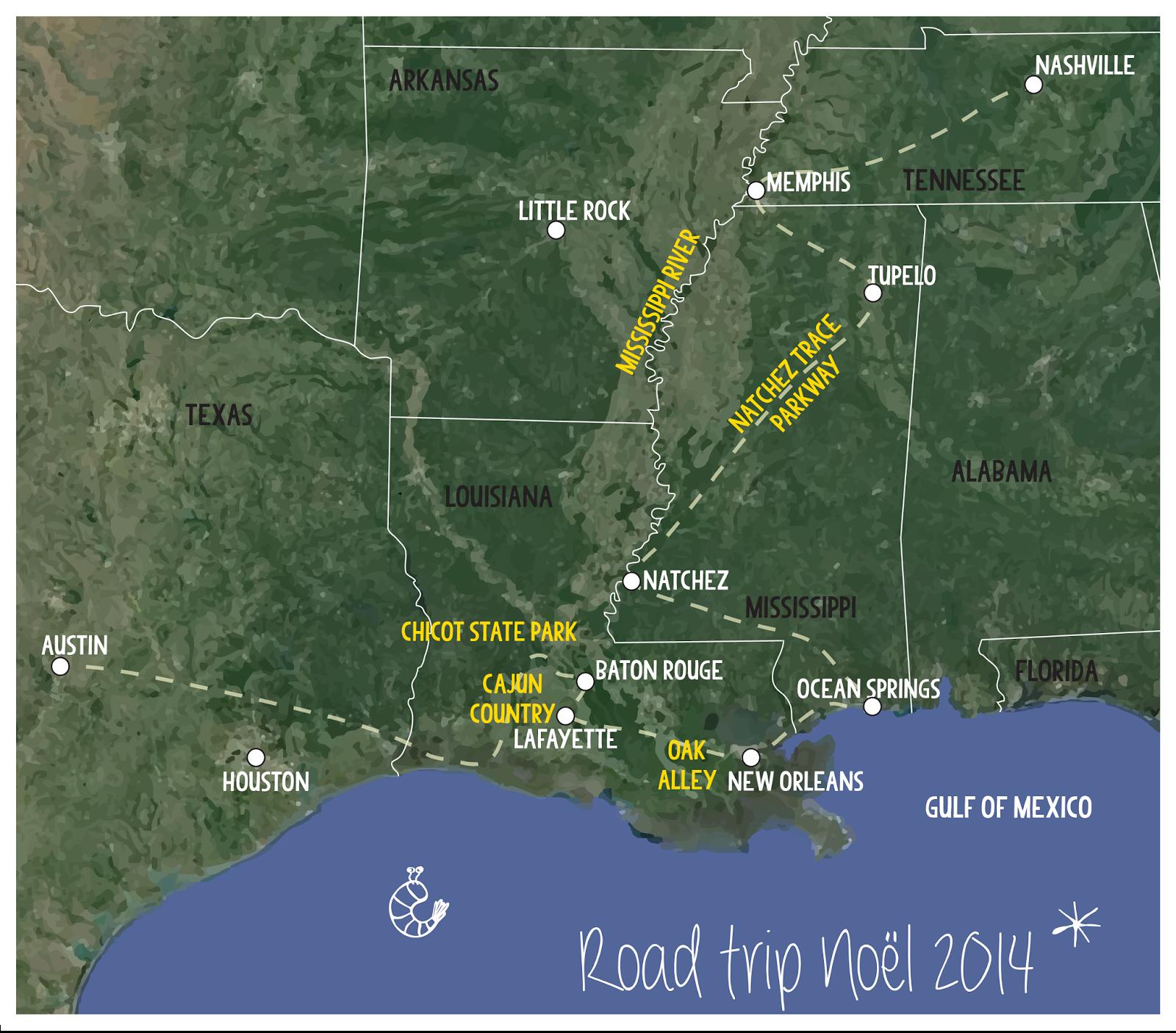 Road trip - Sud des Etats Unis - USA