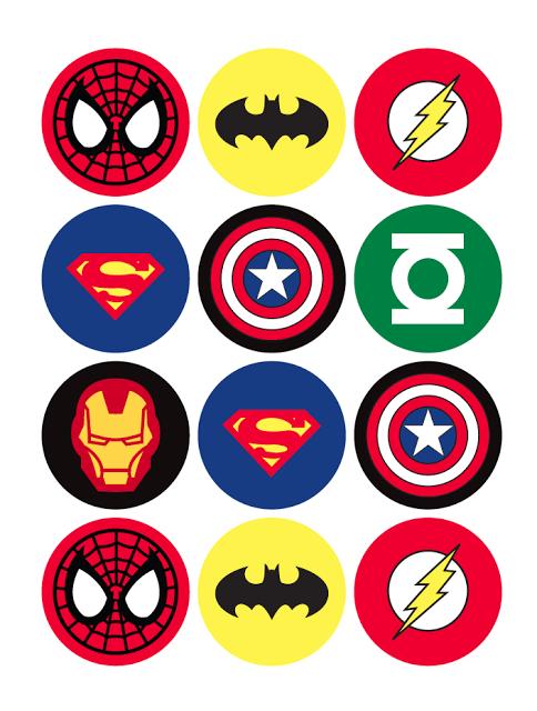 Значки супер героев для дня рождения