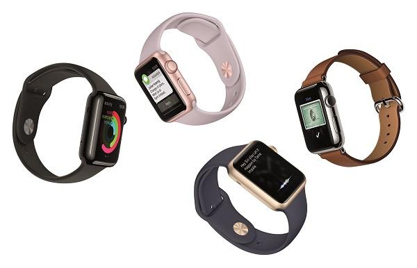 Gold & Rose gold aluminum Apple Watch Sport models