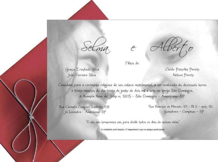 Gráfica dos Convites - Convites de Casamento, Convite