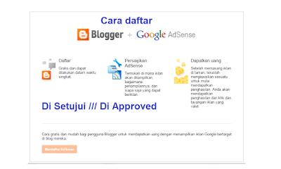 cara daftar google adsense lewat blogger agar cepat diterima / approved
