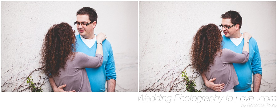 couple look at each other for pre wedding photographs